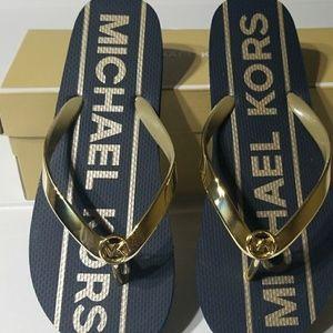 MICHAEL Michael Kors Shoes - Michael Kors Metallic Flip Flop
